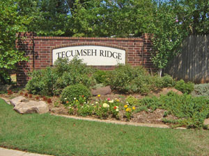 Sign at Tecumseh Ridge in Norman OK
