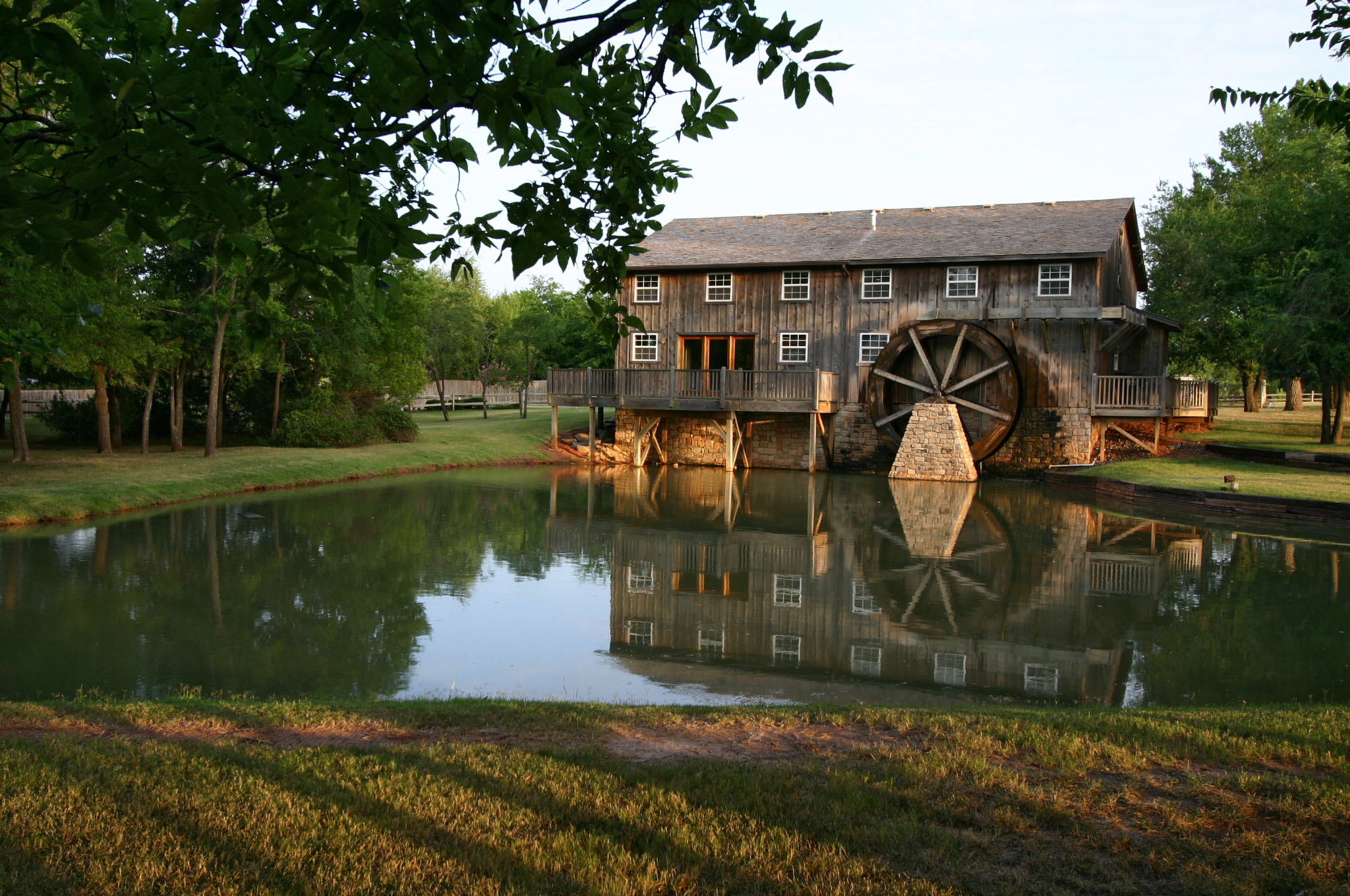 Vineyard in Norman OK Water Wheel