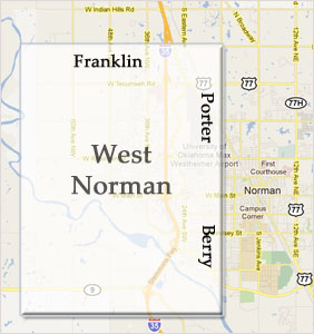 Homes West of Porter & Berry & South of Franklin - West Norman OK